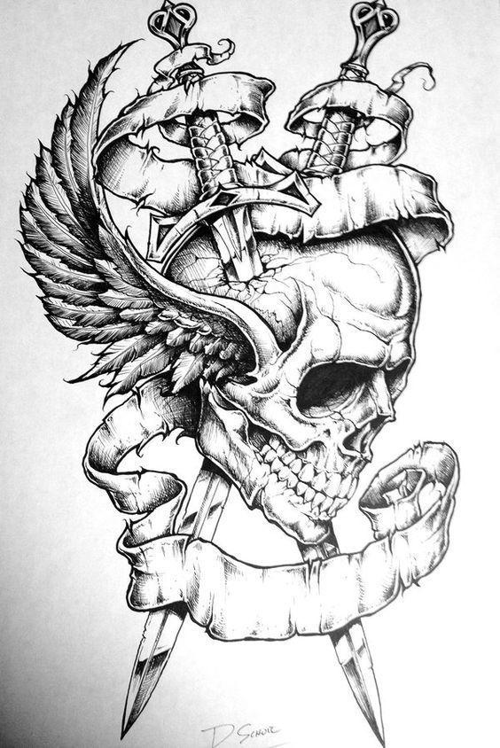 Photo of Schädel Tattoo Designs und Designs – Schädel Tattoo Designs …