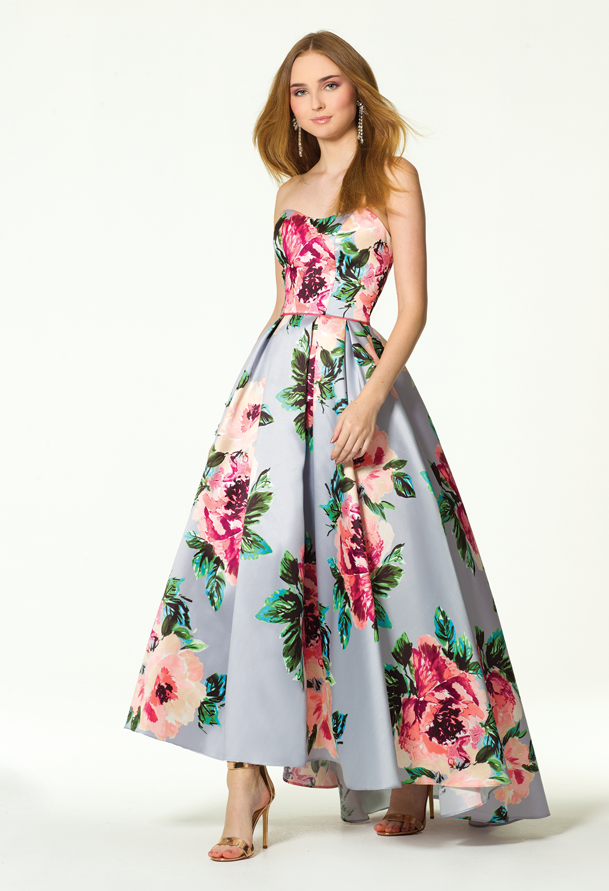Embody all things feminine and flirty with this ball gown prom dress ...
