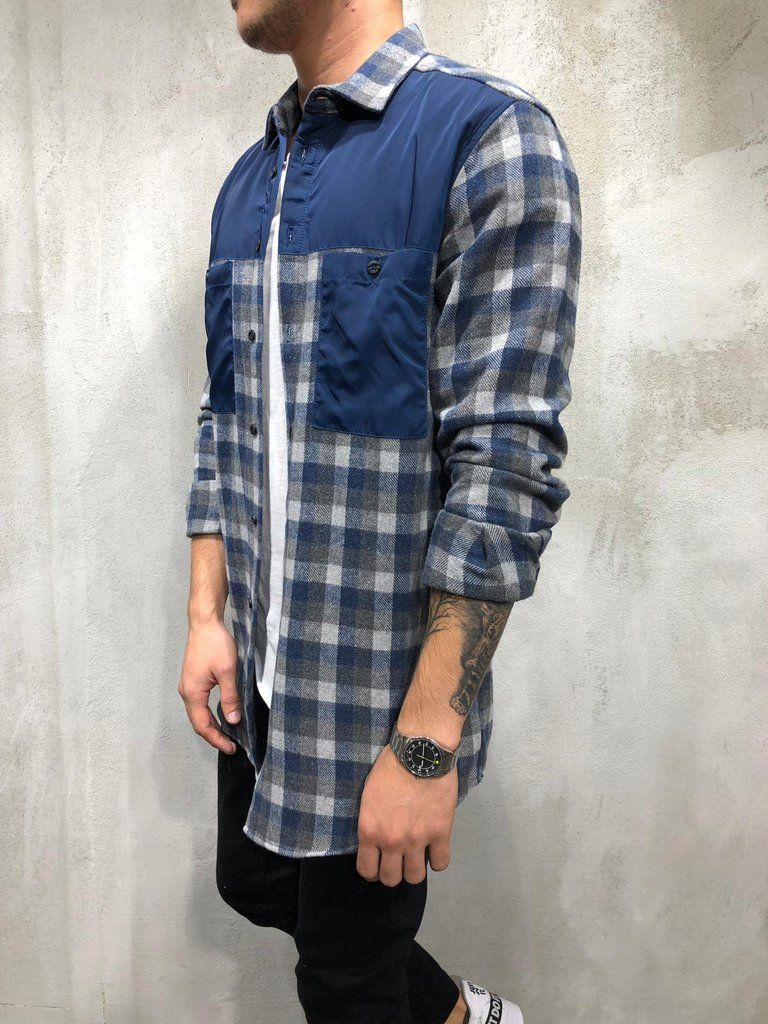7c16efad837974 Express Expedited Shipping On This Item. Delivery 1-5 business days  worldwide*** PRODUCT FEATURES: Men's Streetwear Shirt, Blue, Checkered  Design, ...