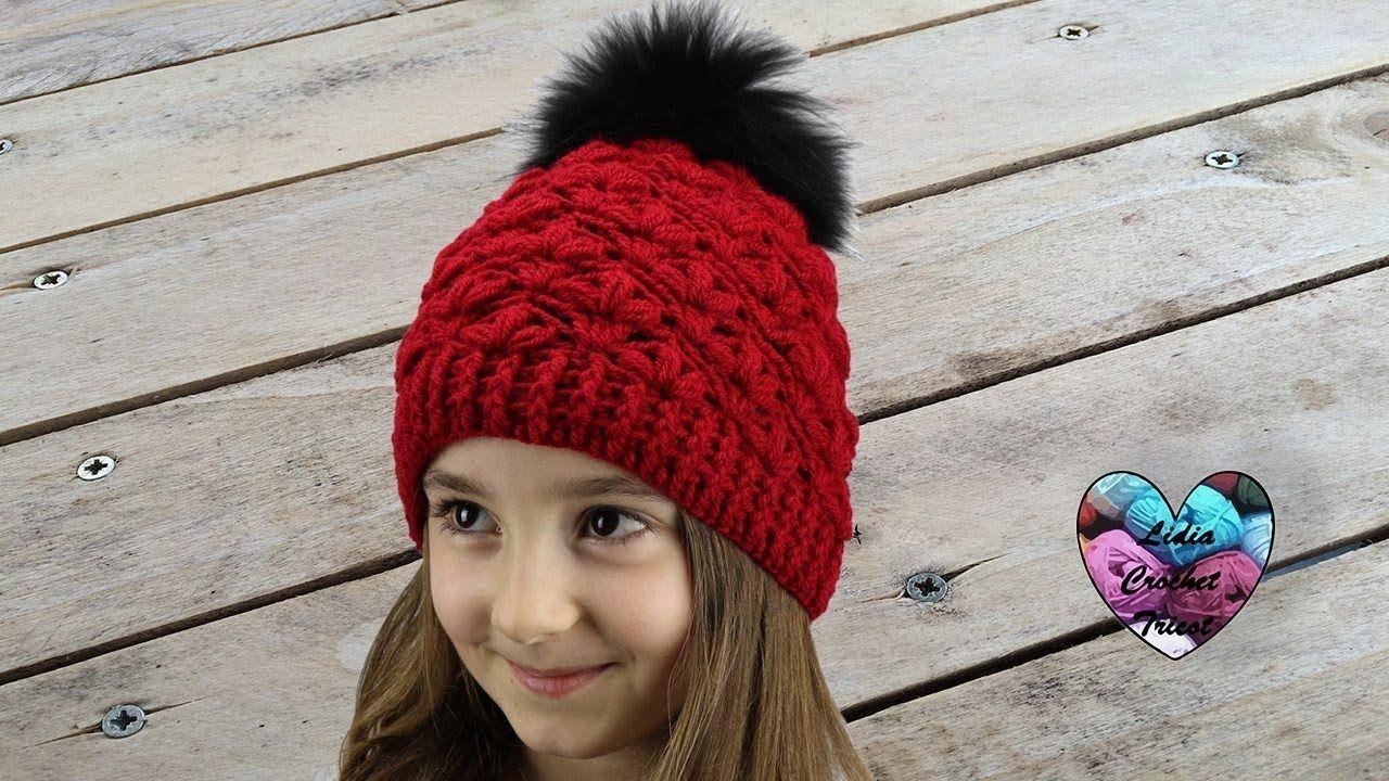 Bonnet point fleuri crochet facile ! | ROPA GANCHILLO | Pinterest ...