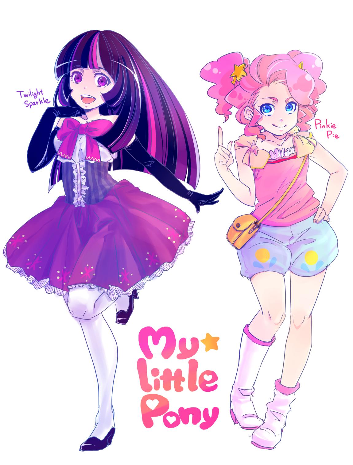 Super cute humanised Twilight and Pinkie Pie. I like a
