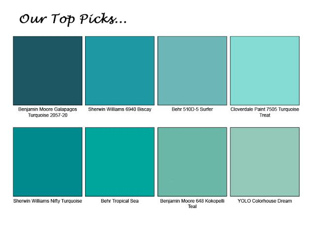 Top Turquoise Paint Colors Homedecor Turquoise Rooms Paint