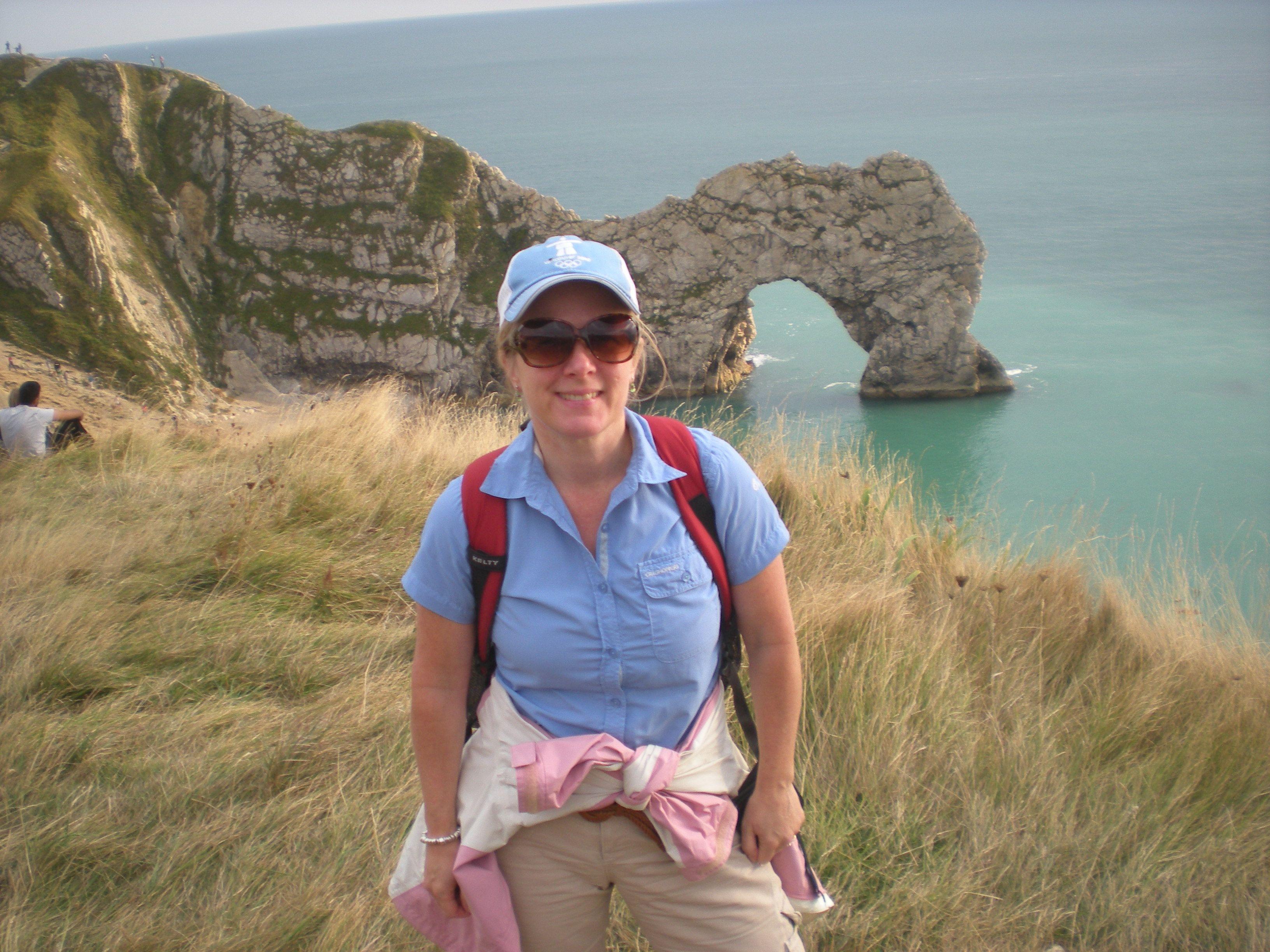 Stephie at Durdle's Door, Dorset Coast