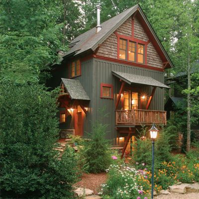 Beautiful cabin via this slideshow for inspiring small - Exterior paint ideas for small homes ...