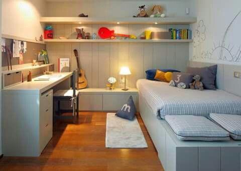 Dormitorio Decoración Pinterest Chambres partagées, Bureau et