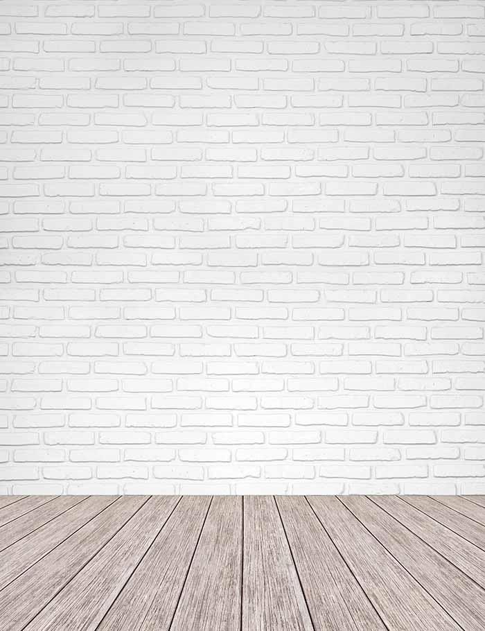 White Brick Texture Wall With Old Wood Floor Mat Photography Backdrop J 0300 Fundo Para Fotos Fundos Para Montagens Molduras Para Fotos Digitais