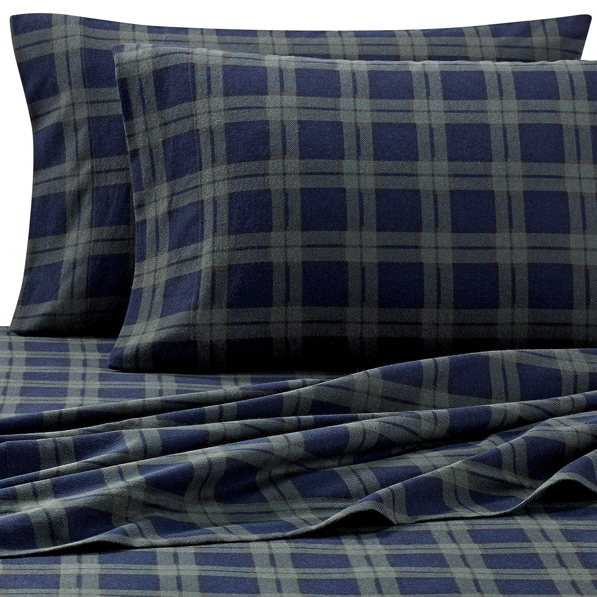 The Seasons Collection® Heavyweight Flannel Pattern Sheet Set ...