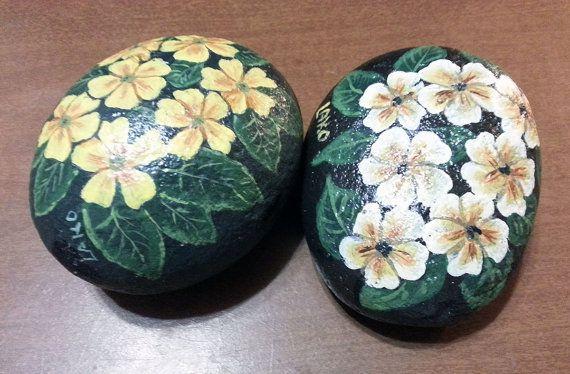 Rocas de flor por CoralDawnArt en Etsy