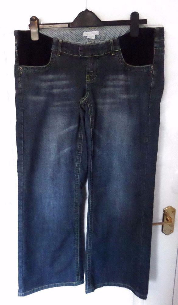 2c6dff7670a894 MAMAS & PAPAS Size 12 S Blue Maternity Jeans Elasticated Pockets 28