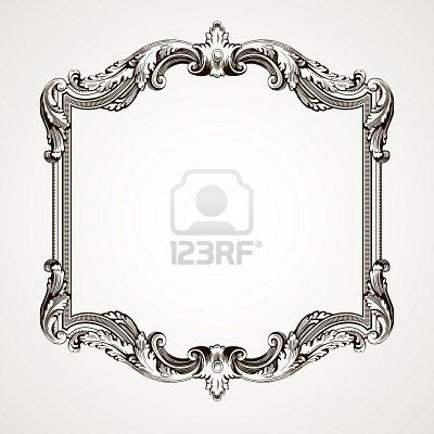 Vector Border Frame | Vintage Frames | Pinterest | Ornamentacion ...