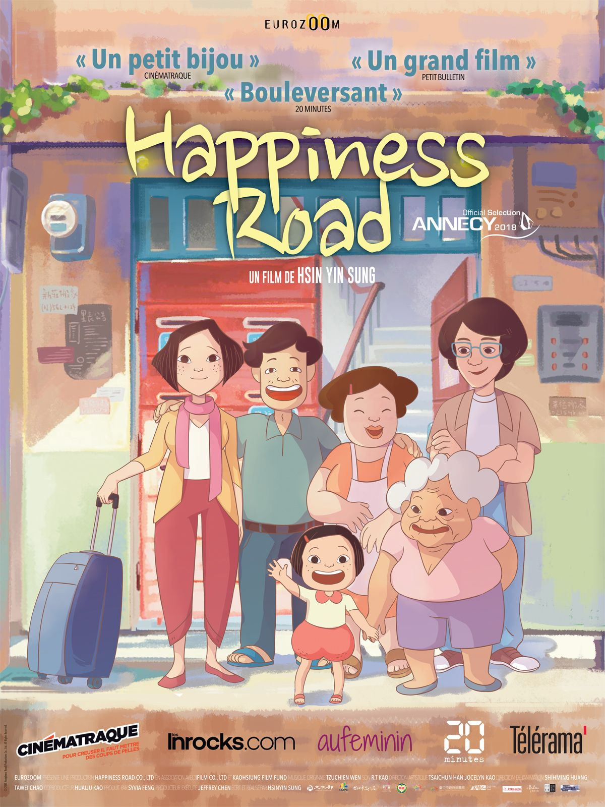 On Happiness Road (Taiwan, 2017) A young Taiwanese woman, transplanted to  the