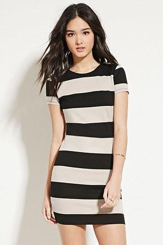 277385bcf0d29 Striped Bodycon Dress