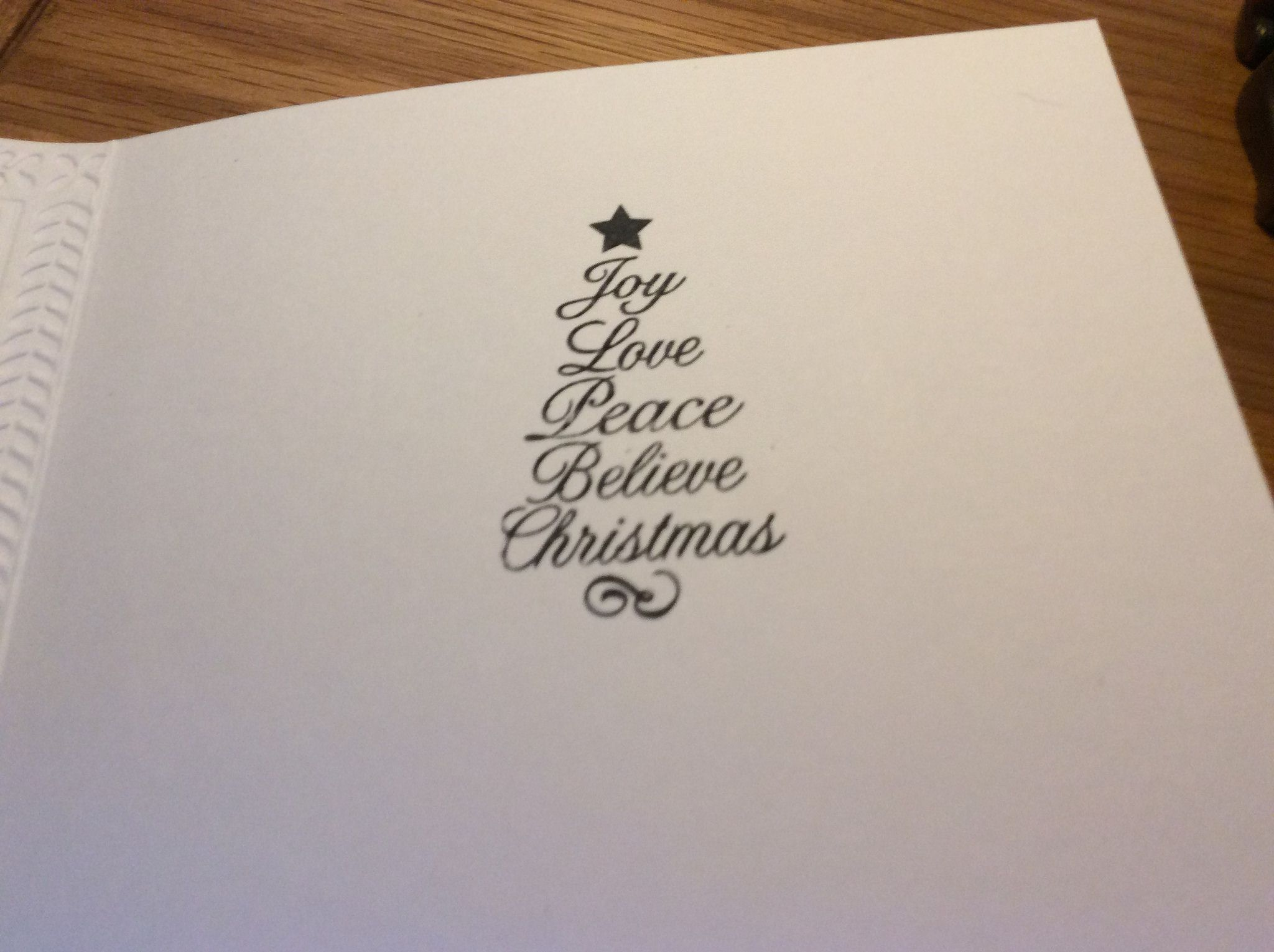 Inside the Bauble Wreath Christmas cards. #baublewreath