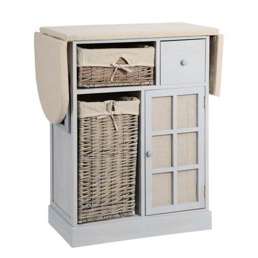 Mueble plancha madera gris patio de ropas pinterest muebles mueble planchador y planchador - Mueble tabla de planchar ikea ...