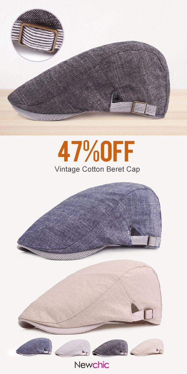 4a2fb3d9f0e Men s Vintage Cotton Beret Cap Casual Sunshade Newsboy Forward Adjustable  Hats  vintage  cap  hat  outdoor