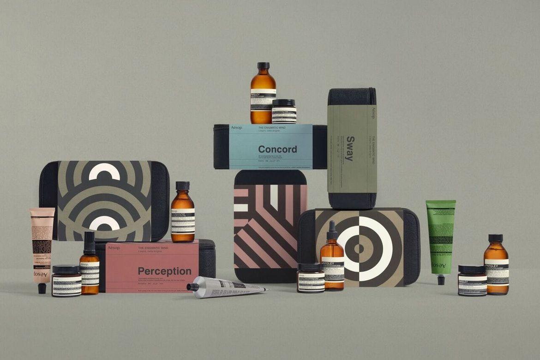 이솝의 연말 스킨케어 선물 세트 6종 선물 화장품 디자인