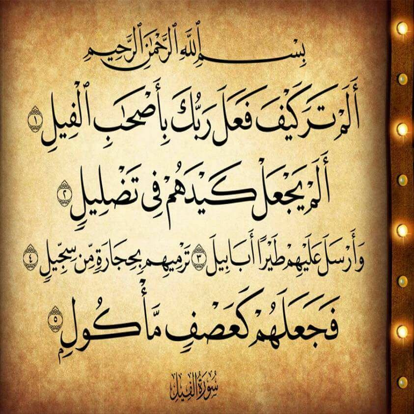 سورة الفيل Prayer For The Day Noble Quran Quran