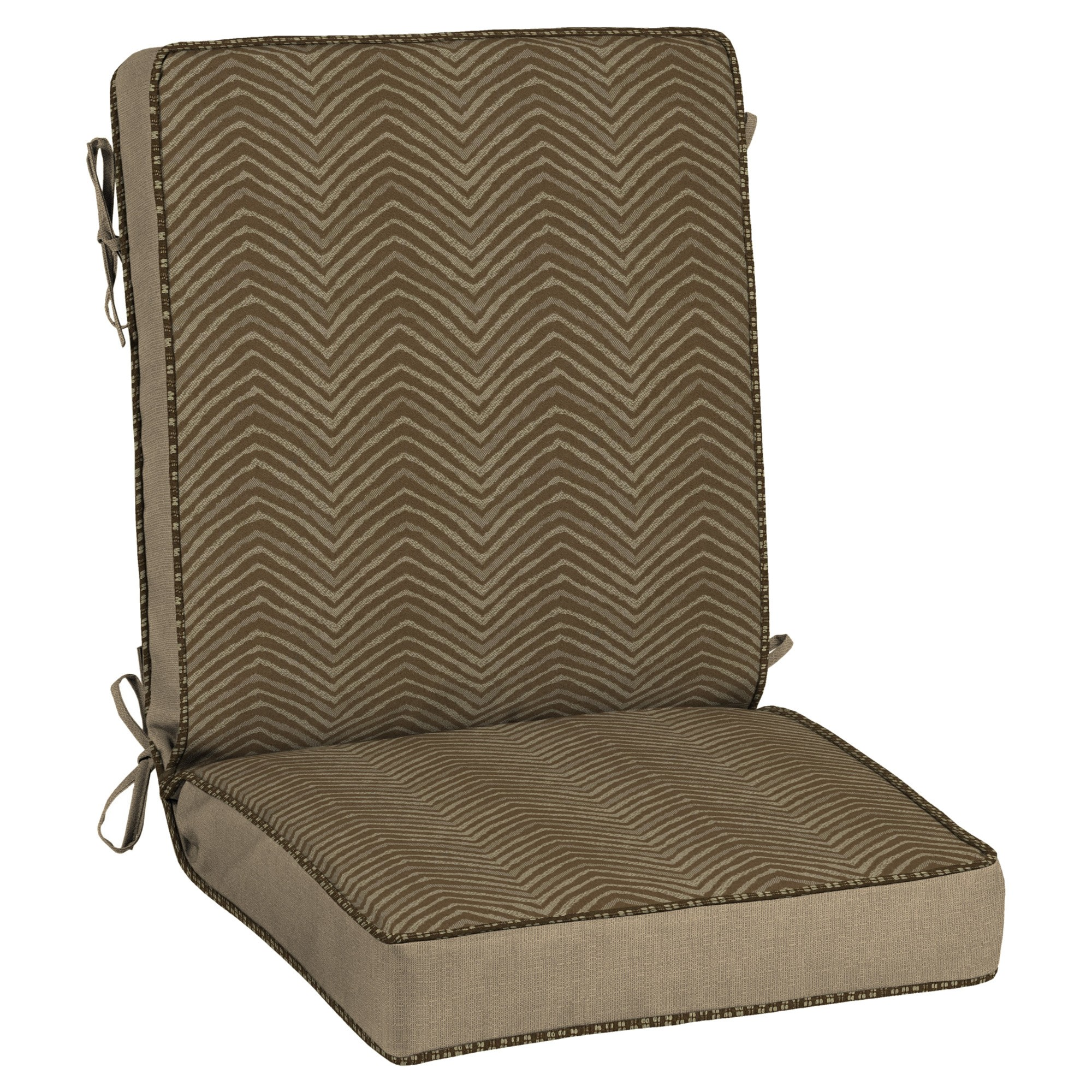 Zebra Chair Cushion   Bombay Outdoors, Brown