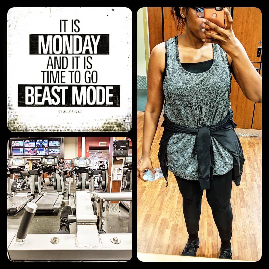 Start the week off well👊🏽😁 1 hr cardio: soca☑️ 20 min: legs☑️ * * * * *  #healthyeating #intermitten...
