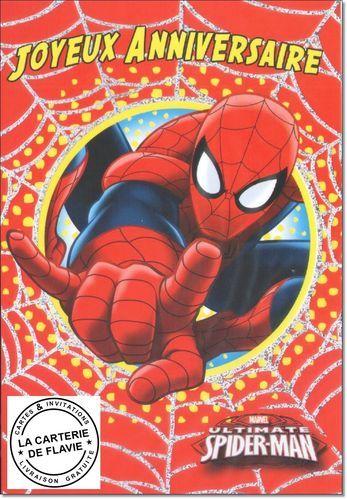 Cartes Spider Man Pour Offrir A Son Anniversaire A Retrouver Sur Notre Site Https Lacarteriedeflavie Com Cartes Spi Carte Anniversaire Cartes Anniversaire