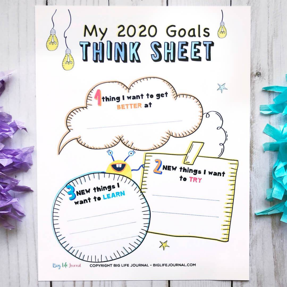 2020 New Year Kit Pdf Ages 4 10 Big Life Journal Think Sheet Activity Sheets For Kids Whole Brain Teaching