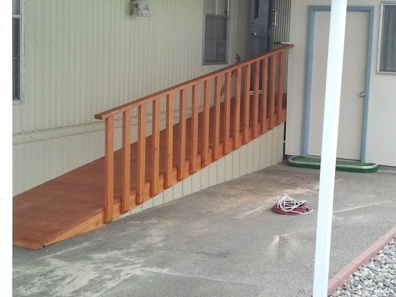 Image result for wheelchair ramps from mobile home