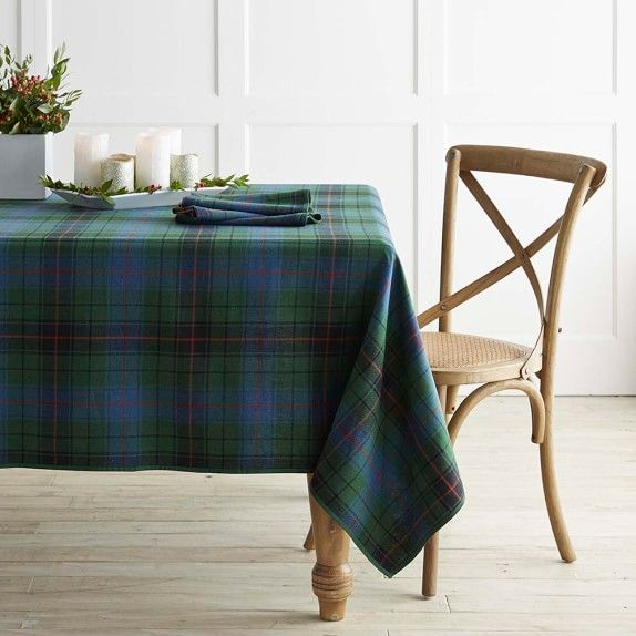 Forest Tartan Tablecloth | Williams Sonoma