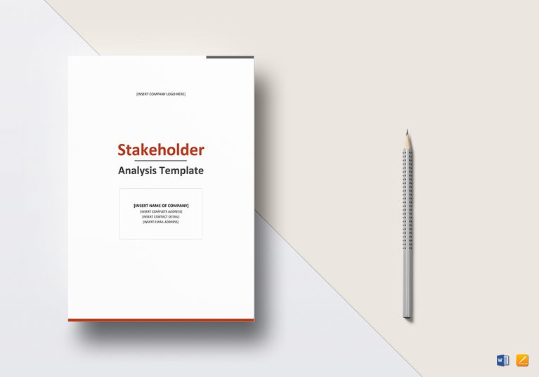 Stakeholder Analysis Template  Formats Included  Ms Word