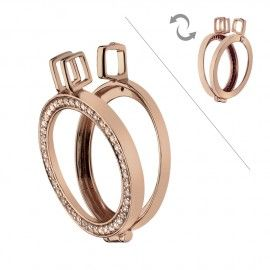 Emozioni - Emozioni Rose Gold Reversible Coin Keeper - 25mm - Keepers