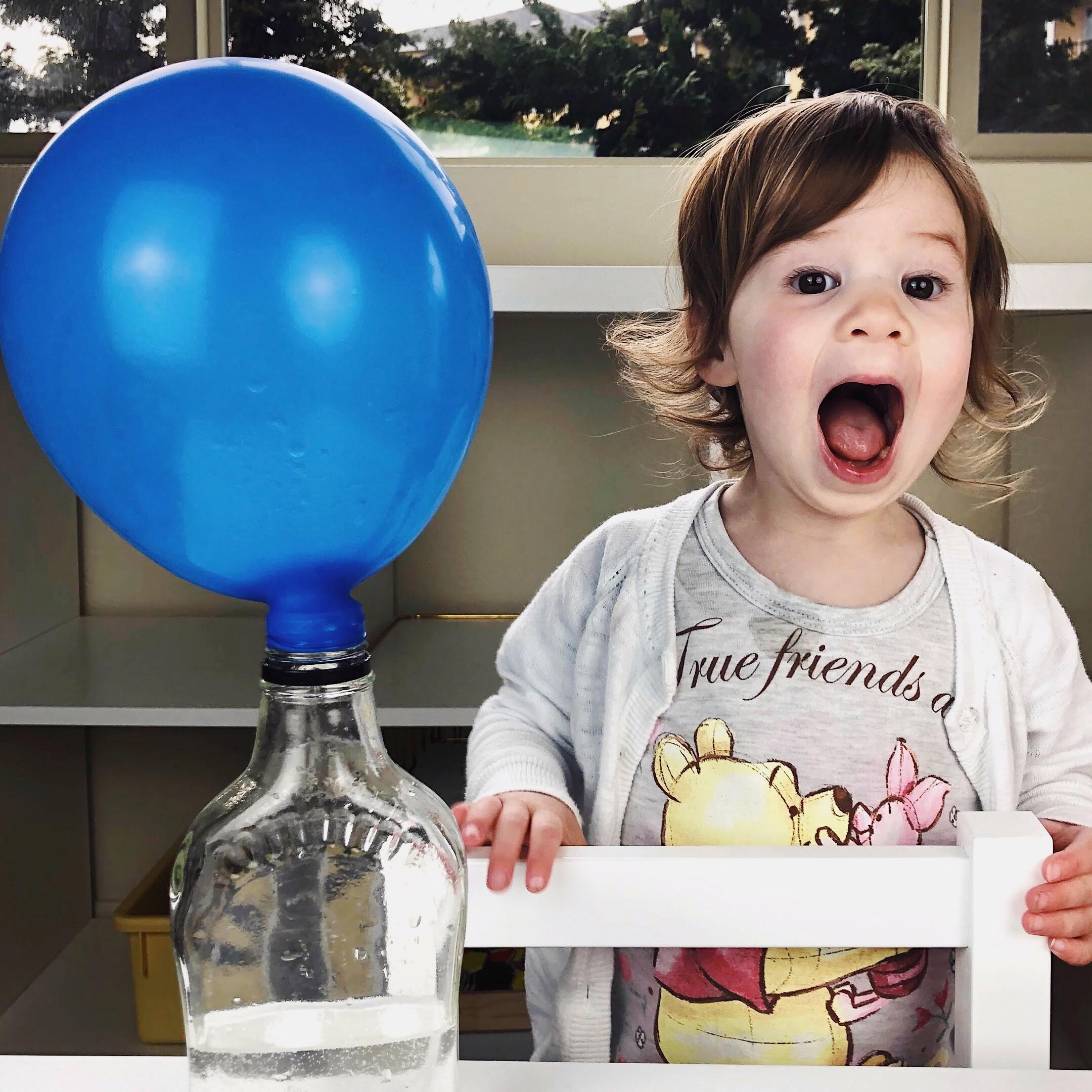 Balloon Science Experiment #scienceexperimentsforpreschoolers