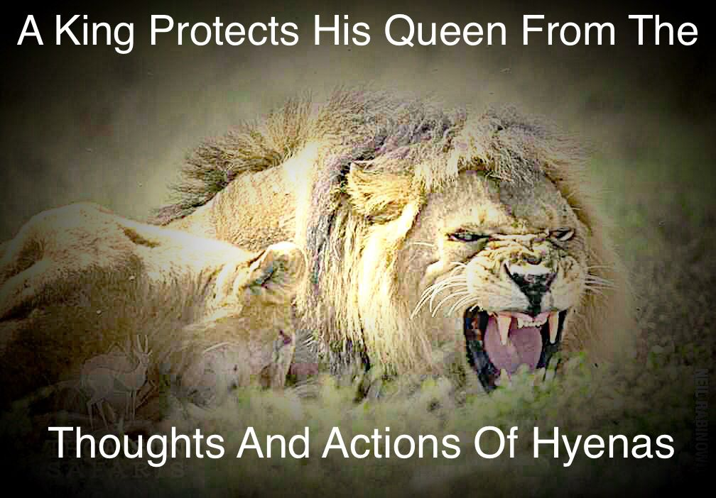 """A King Protects His Queen From The Thoughts And Actions"