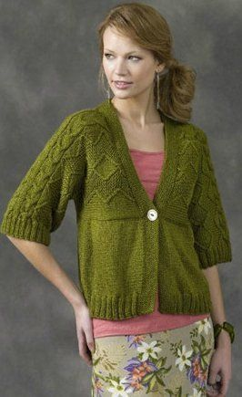 920ee5633cc56e Fresh Spring Cardigan in a Worsted or Aran weight from Naurally Caron