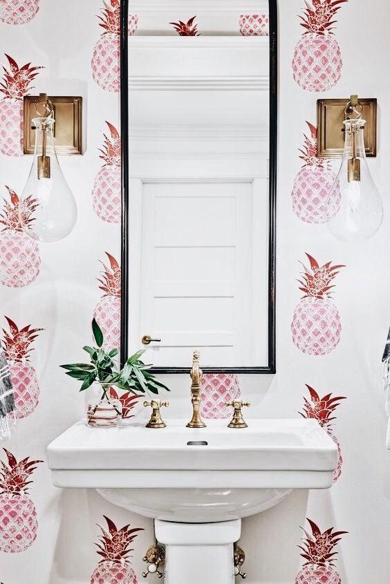 Pin Von Anne Auf Wohnung Toiletten Tapete Badezimmer Tapete Ideen