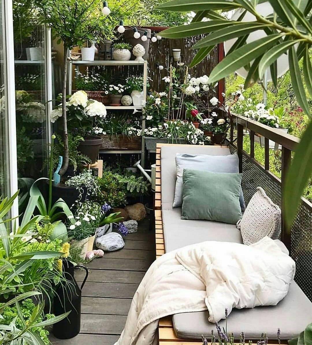 15 Fascinating Balcony Garden Design Ideas To Make Home More Fresh In 2020 Apartment Patio Outdoor Patio Space Patio Spaces