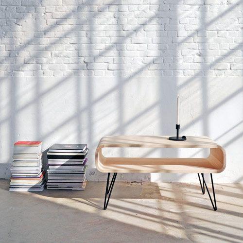 Table Basse Rectangulaire En Bois Et Metal Noir Metro Xl Boom Salontafel Koffietafel Tafel Design