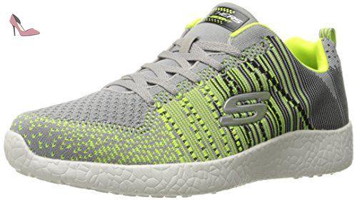 Burst, Sneakers Basses Femme, Gris (Char), 36.5 EUSkechers
