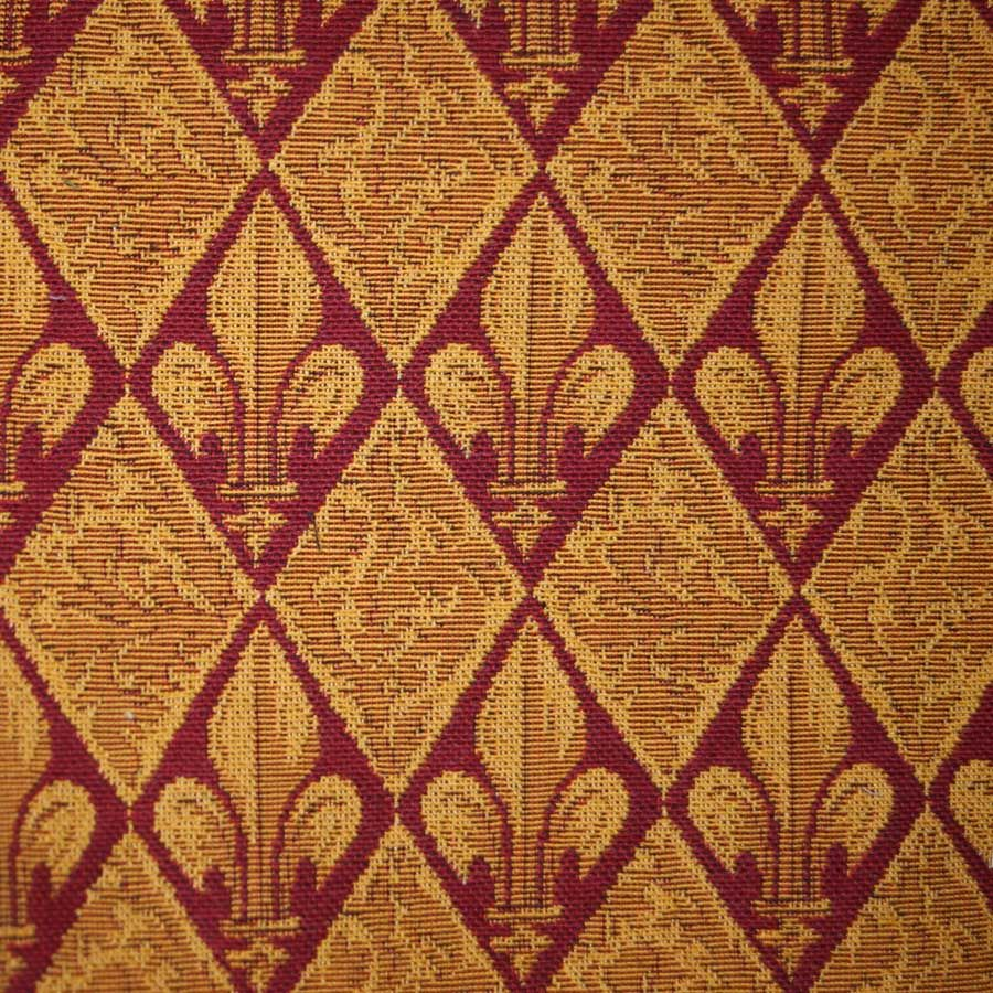 Celtic Medieval Red And Gold Curtain And Upholstery Fabric