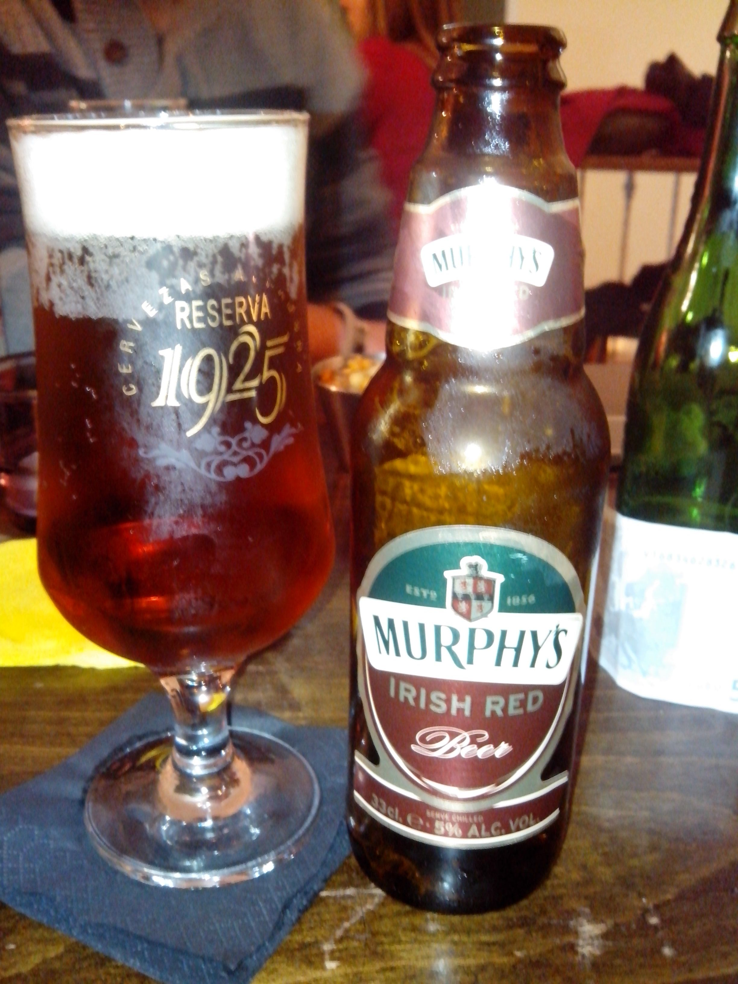 Murfhy Cerveza Roja. Irlanda.