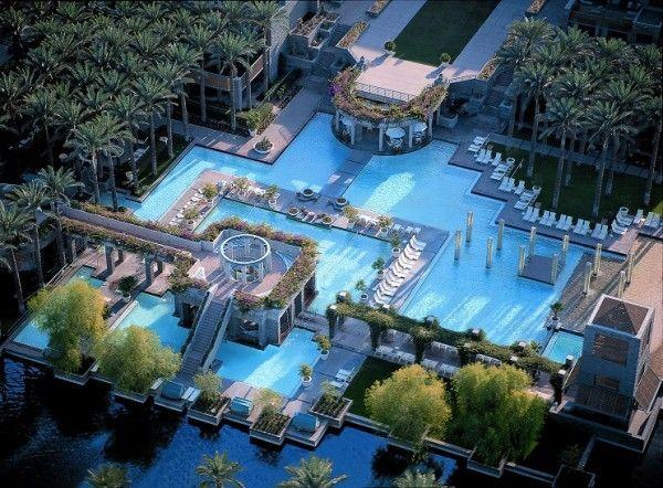 Make A Splash In A Phoenix Pool The Hot Sheet Blog Scottsdale Resorts Resort Pools Resort