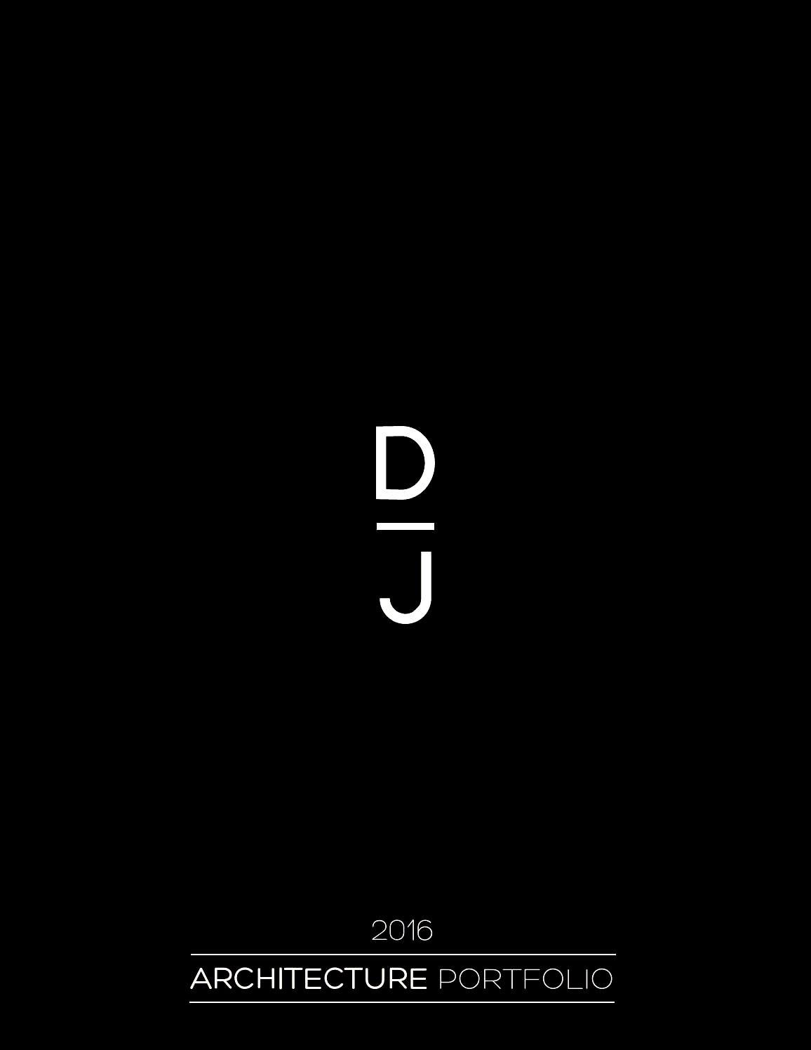 2016 Architecture Portfolio Dorian Janowicz