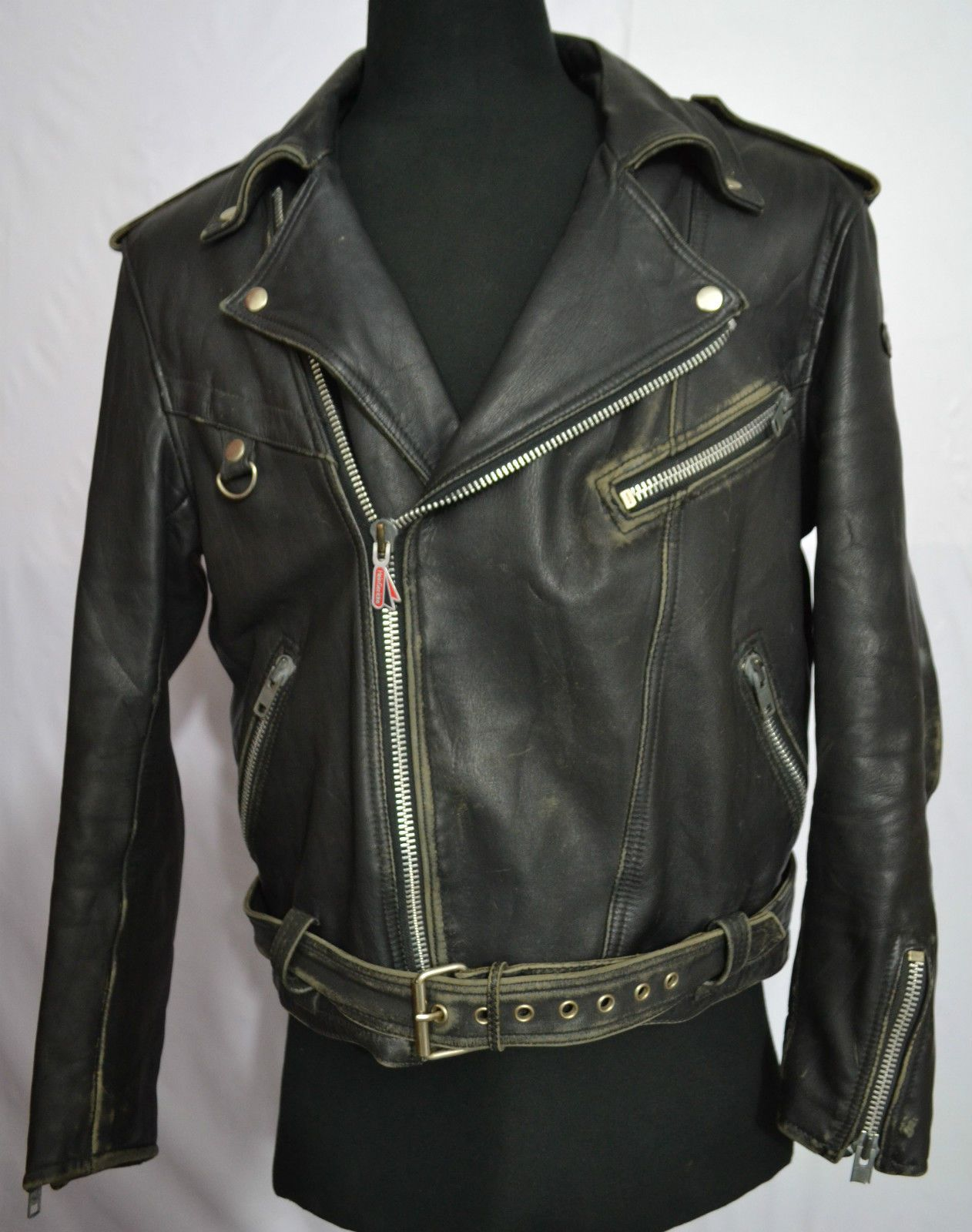 Hein Gericke Men's Motorcycle Thick Leather Jacket