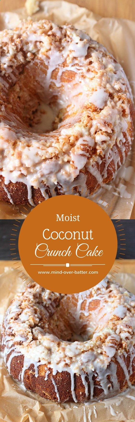 Moist Coconut Crunch Cake www.mindoverbat... Crunch