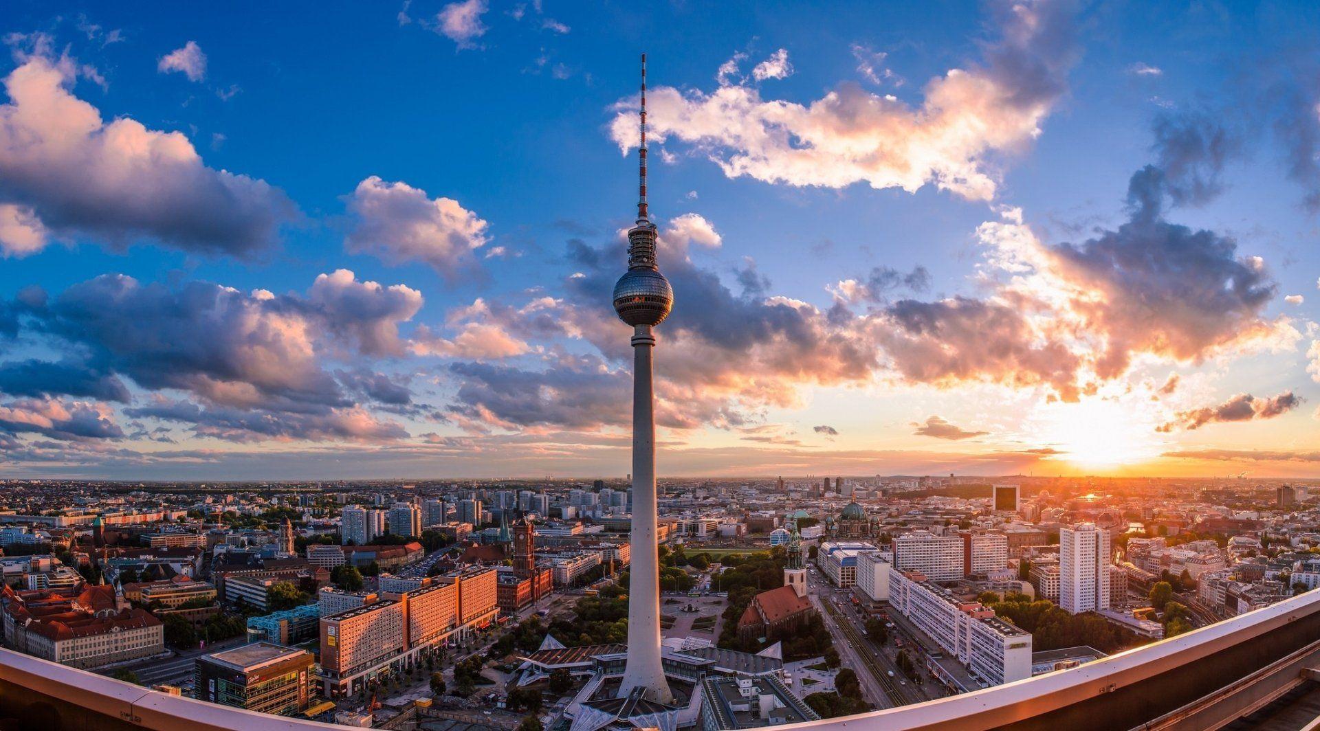 Man Made Berlin Germany Sunset Wallpaper Background Images Sunset Wallpaper Desktop Background Images