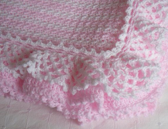 Crochet Baby Blanket, Crochet Baby Afghan, Layered Ruffles ...