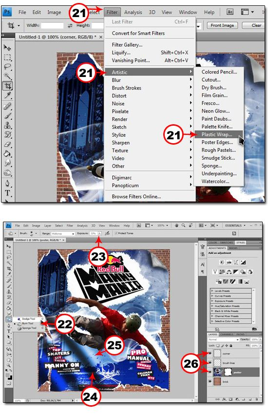 How To Create A Ripping And Tearing Poster Effect