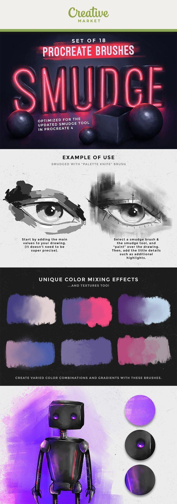 Photoshop Brushes Creative Market Procreate Brushes Free Procreate Smudging