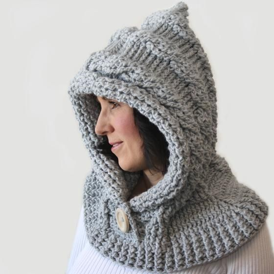 51 Degrees North - Crochet Hooded Cowl - Knitting Patterns and ...