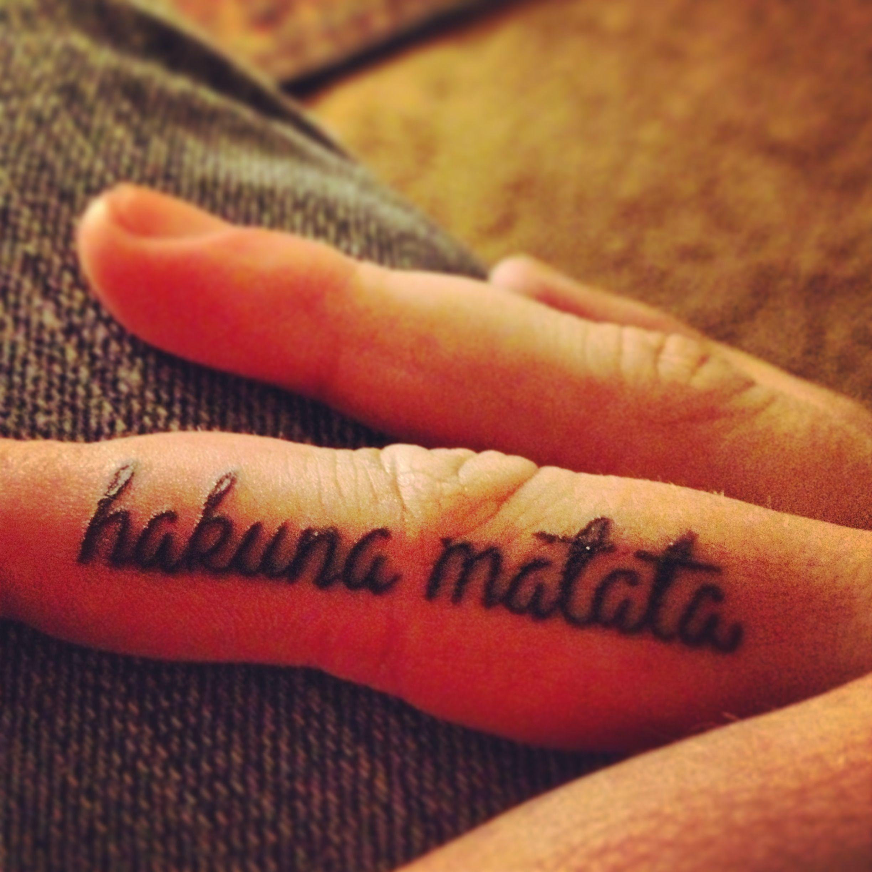 Hakuna matata ink tat tattoo hakuna matata tatoo pinterest - Hakuna matata tatouage ...