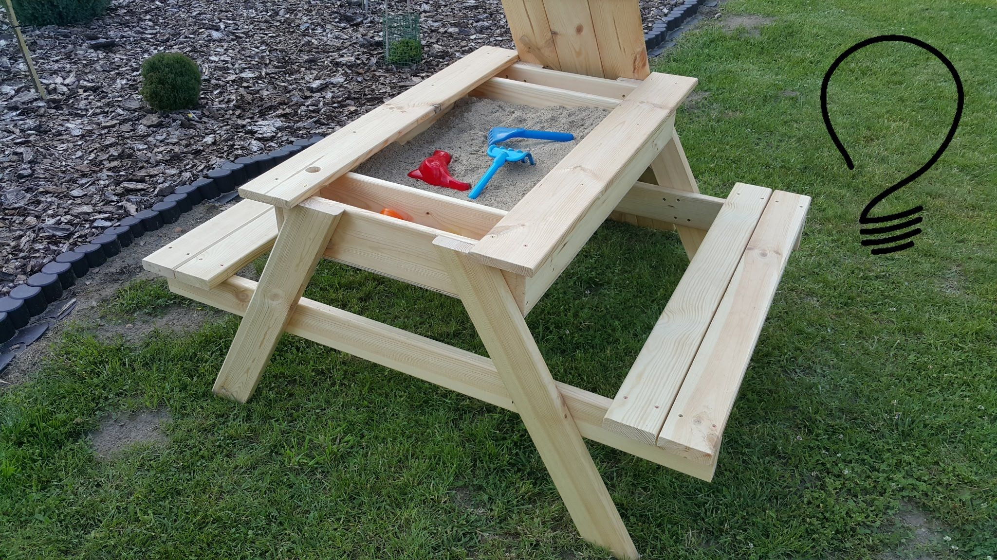 how to make a sandbox picnic table youtube personal in 2019 pinterest. Black Bedroom Furniture Sets. Home Design Ideas