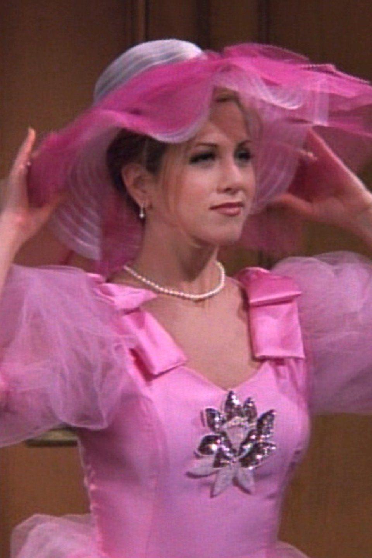 Rachel In Pink Bridesmaid Dress Friendstvshow Rachelgreen Pink Photo Rachel Friends Joey Friends [ 1440 x 960 Pixel ]